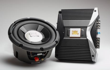 The JBL sound system that pimps the Materia along