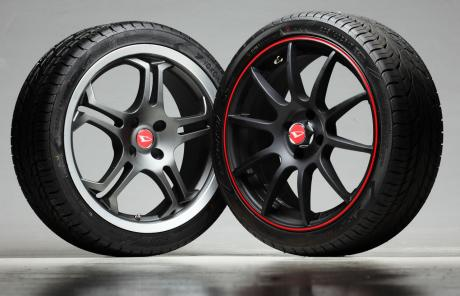 two unique sets of rims to choose from
